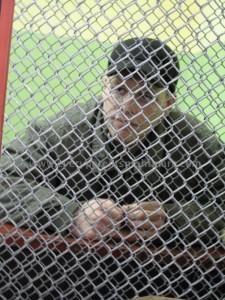 Jock Palfreeman in the Visitors' Room at Sofia Central Prison (Ron Ekkel)